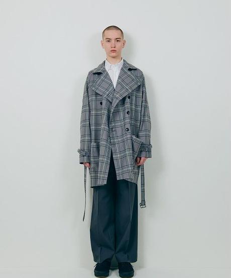 digawel Raglan Sleeves Coat grencheck