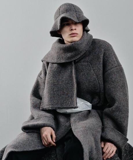 beta post bulky nep smock coat