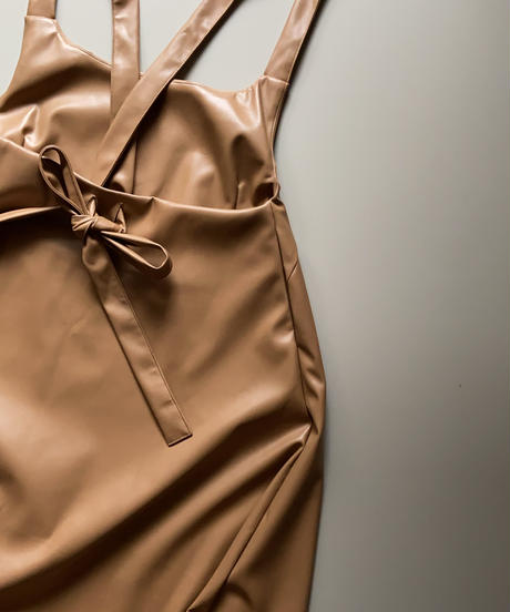 apron onepiece eco leather