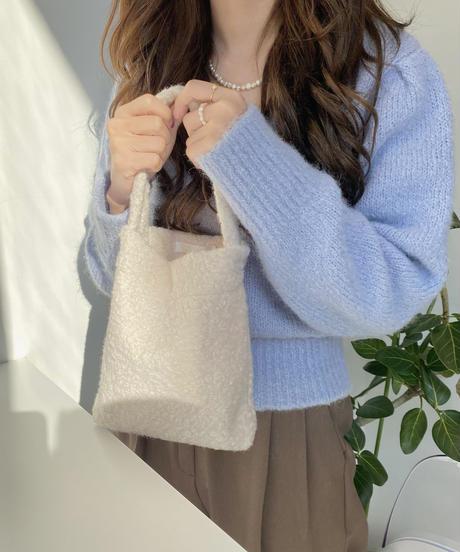 《予約販売》alpaca square neck puff sleeve knit(4color)