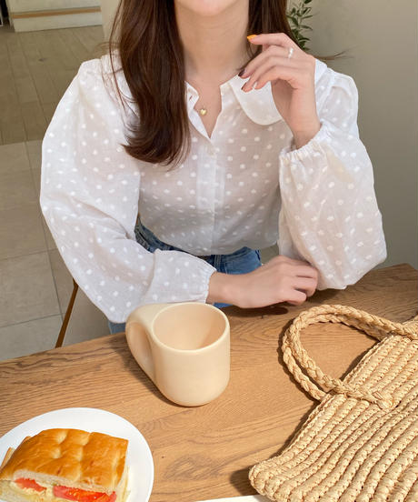《予約販売》doll flower blouse (2color)