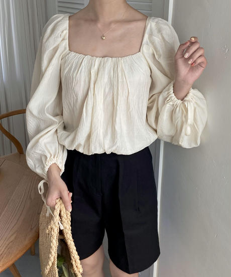 《予約販売》witty ribbon  blouse (2color)