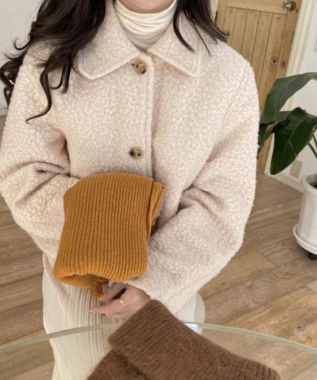 《予約販売》wool100% rib muffler (4color)