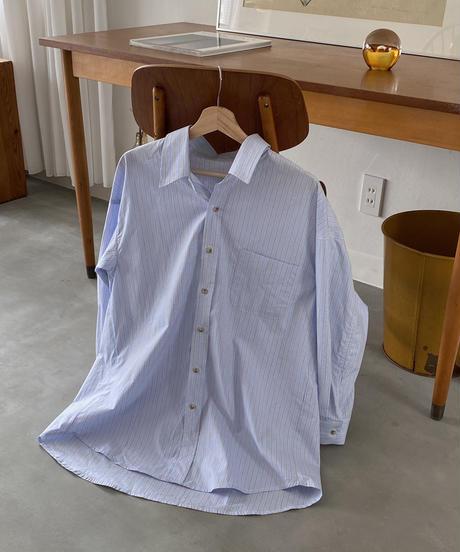 《予約販売》ravi stripe over shirt