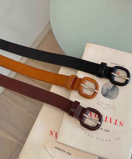 《予約販売》real leather belt (3color)