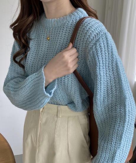 《予約販売》low gauge round knit (3color)