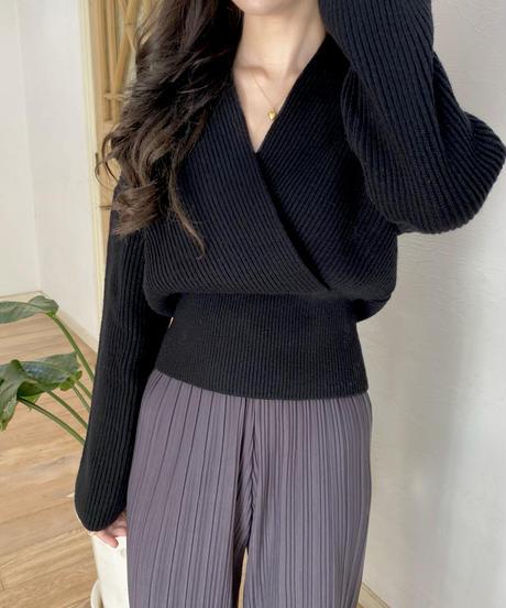 《予約販売》 fine wool wrap knit (4color)