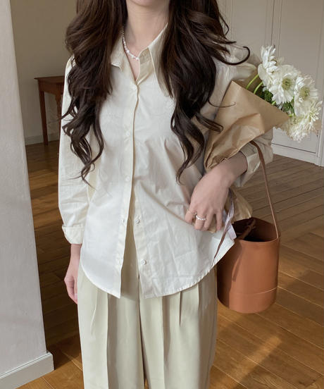 《予約販売》big collar shirt (3color)