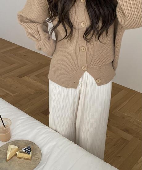 《予約販売》high neck single button cardigan (3color)