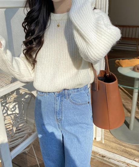 《予約販売》hand warmer round knit (4color)