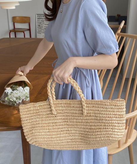 《予約販売》raffia rectangle bag