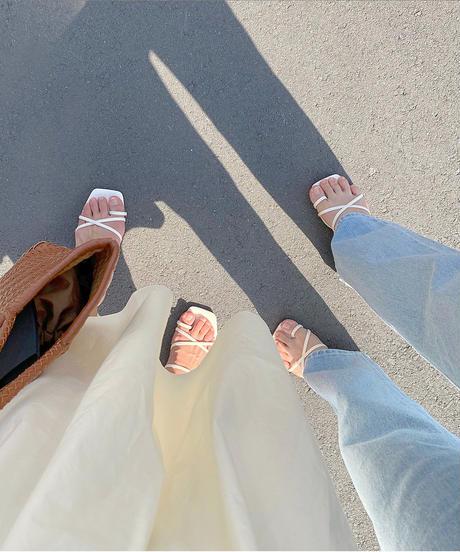 thumb strap sandal (3color)