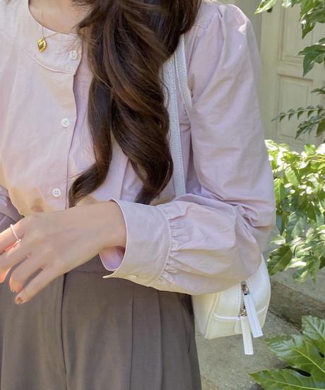 cotton tuck blouse (2color)