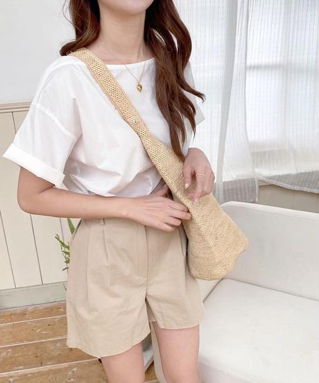 raffia one shoulder bag
