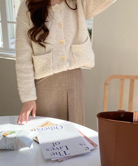 《予約販売》mix pocket cardigan (2color)