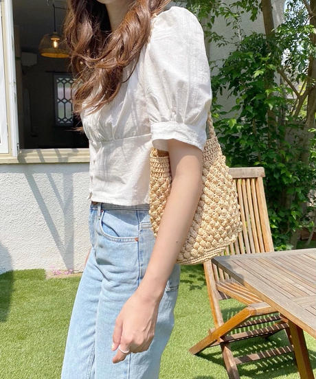 cropped tuck blouse (2color)