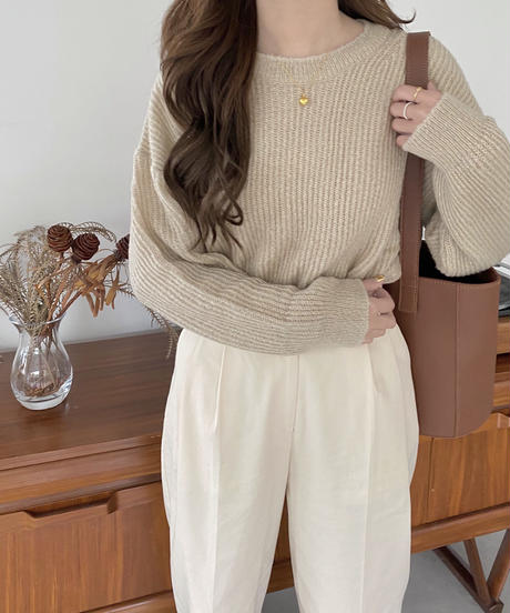 《予約販売》mohair round knit (3color)