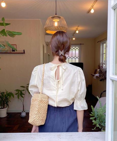 back double ribbon blouse (2color)