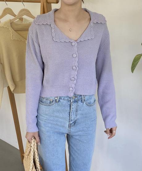 《予約販売》lovely frill cardigan (3color)