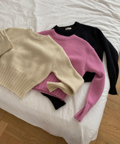 《予約販売》mamonde cropped knit (3color)