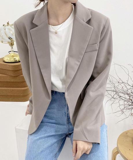 front button less basic jacket (2color)