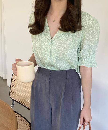 《予約販売》sally flower blouse (2color)