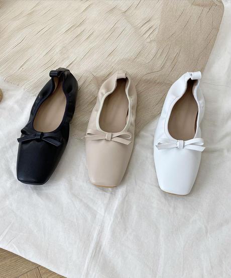 square ribbon ballet shoes (3collar)