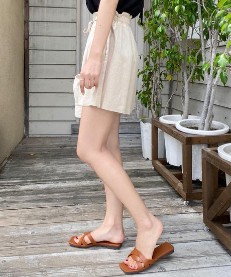 real leather knot sandal ( 2color )