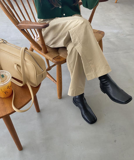 《予約販売》square socks short boots (3color)