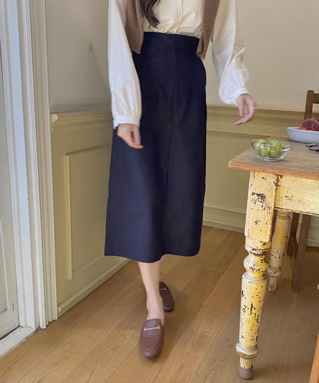 《予約販売》button skirt (2color)