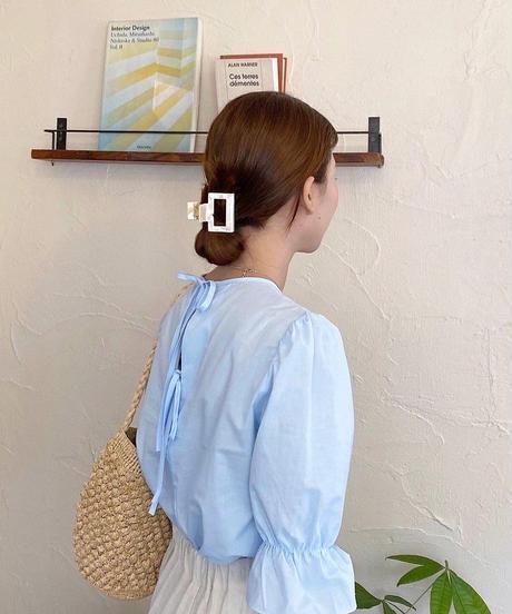 《予約販売》square colour hair clip (6color)