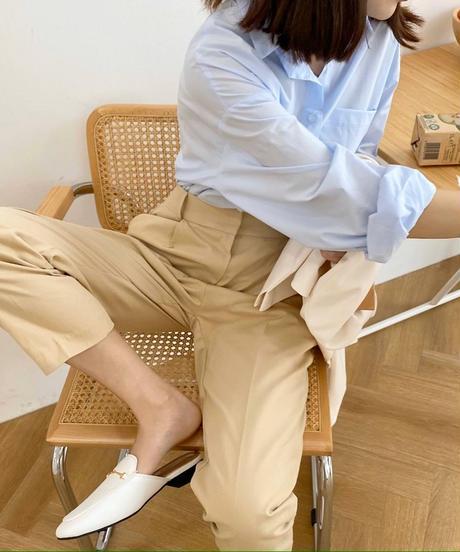 side slit over size shirt (2colour)