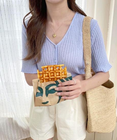 summer knit rib cardigan (2color)