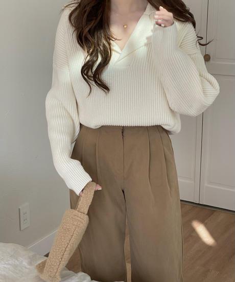《予約販売》double big collar rib knit (4color)