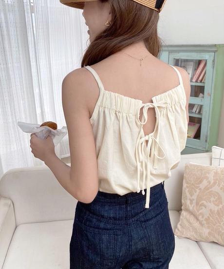 back double ribbon camisole (2colour)