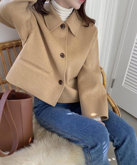 wool 90% daily handmade short coat