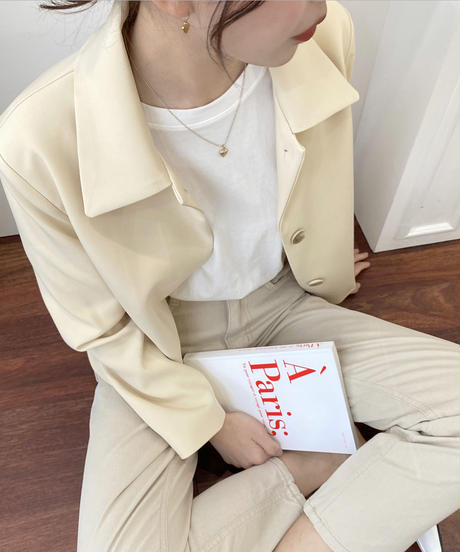 button hidden  jacket (2color)
