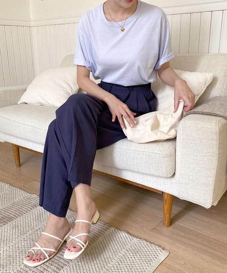 linen tuck pants (2color)