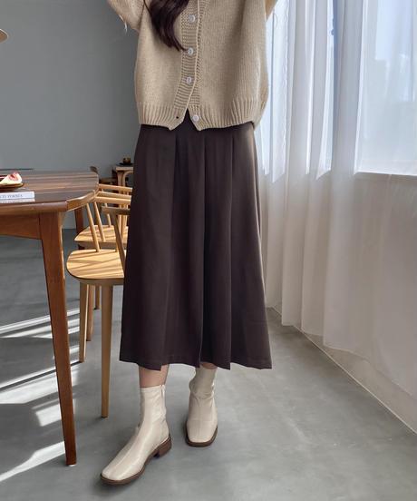 《予約販売》front pleats long skirt (2color)