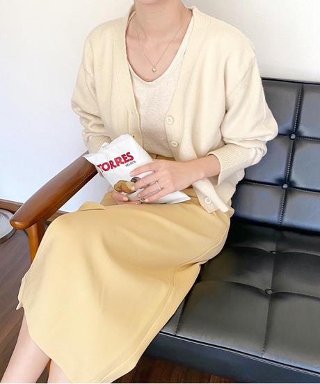 2way tuck slit skirt (3color)