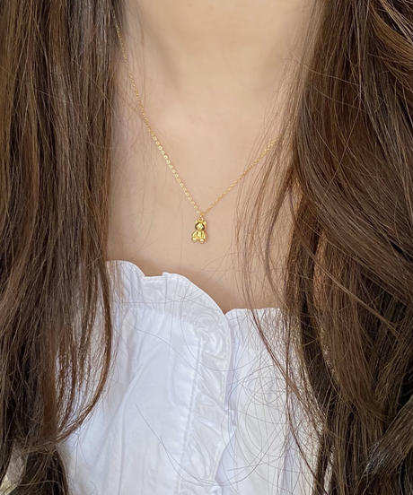 《予約販売》silver925 bear necklace (2color)