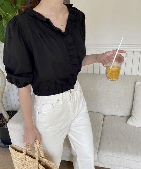 《予約販売》date frill blouse (2color)