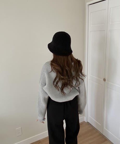 《予約販売》poodle snow bucket hat (2color)