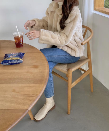 《予約販売》stripe collar far jacket (2color)