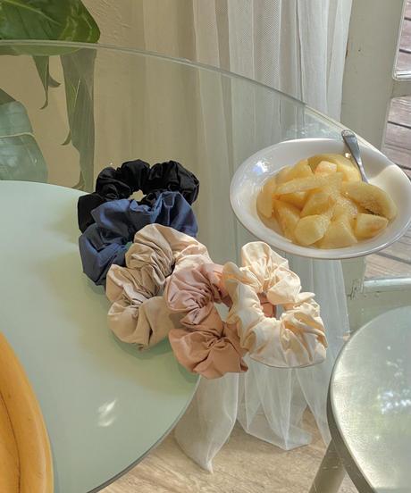 《 予約販売》 cotton scrunchy (4color)