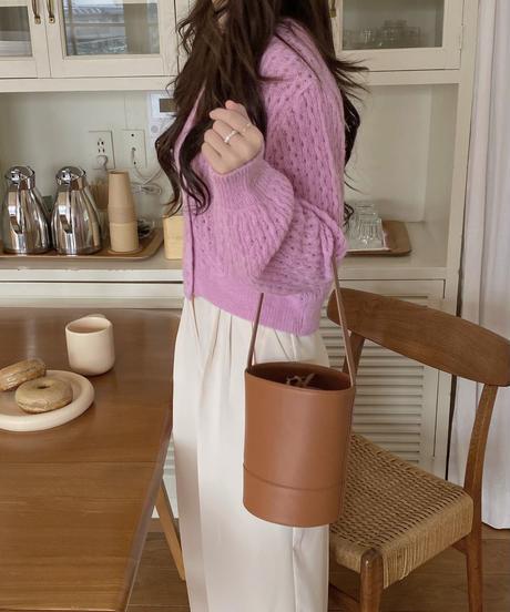 《予約販売》real leather poem bag (2color)