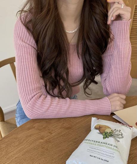 《予約販売》sugar lib knit tee (4color)