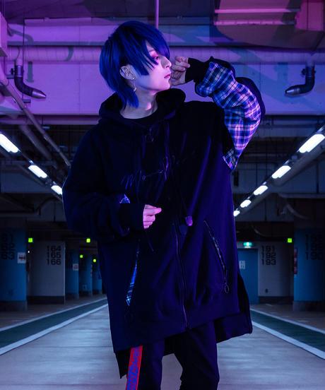 ロングパーカー(BLUE)