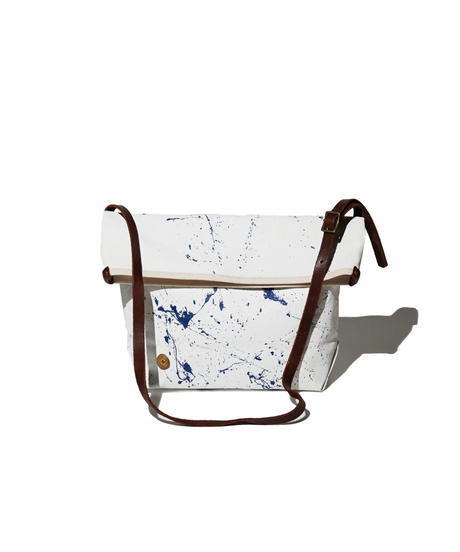 Sunset Craftsman Co. / Pine Shoulder Bag (S) / White x Paint Dripping