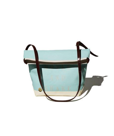 Sunset Craftsman Co. / Pine Shoulder Bag (S) / M&S Blue x Milk